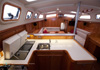 Bluewater 420 Raised Saloon | Galley Fridge / Freezer – Twin Seals, Corian Benchtop, Extra Overhanging Benchtop