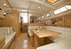 Bluewater 420 Raised Saloon | 'China Girl' Looking Aft With Fold Out Table